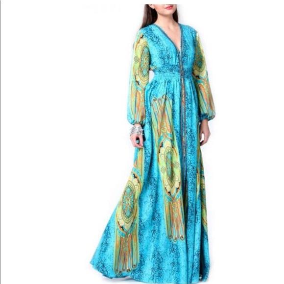 9c0bc671a4c NWT Gracia Long Caftan Dress
